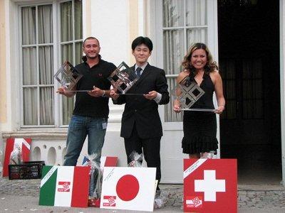 Luca Gavalli (ITA), Koji Idota (JAP), Bo Lang (SWI). Kuva: OEMC